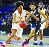 Senior standout Isaiah Likely dribbles into the lane