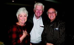 Joan and Fran O'Hara alongside John Mattuchio